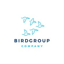 Bird Group Colony Logo Vector ...