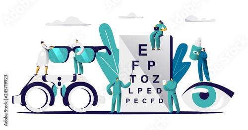 Fotografía  Ophthalmologist Doctor Check Eyesight for Eyeglasses Diopter