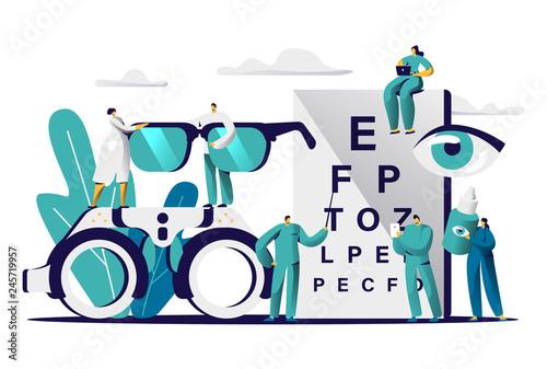 Cuadros en Lienzo Ophthalmologist Doctor Test Myopia Eye