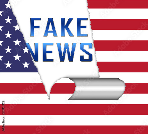 Cuadros en Lienzo Fake News Icon Paper Means Misinformation Or Disinformation - 3d Illustration