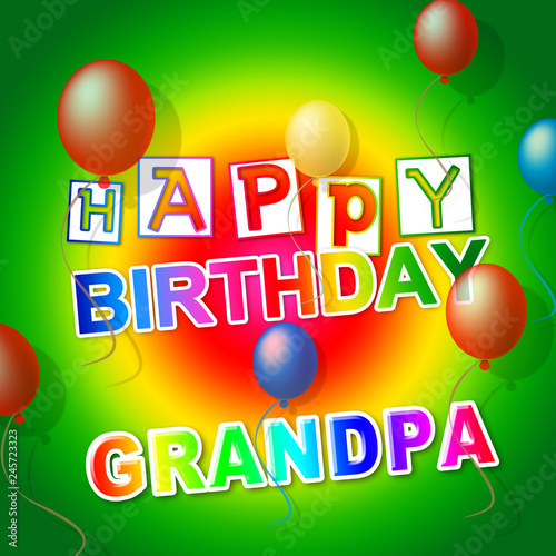 Happy Birthday Grandpa Card As Surprise Greeting For Grandad