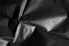 Abstract Background Crumpled Plastic Film Texture Black Garbage Bag