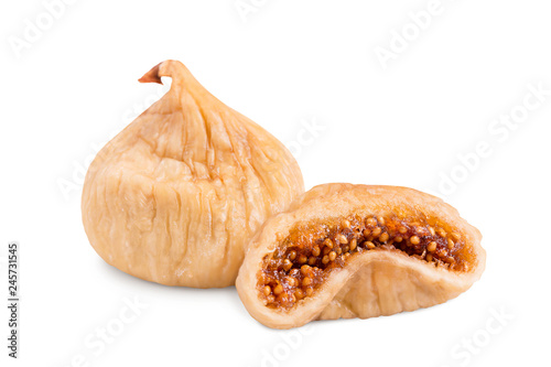 Fotografia Dried figs isolate on a white background
