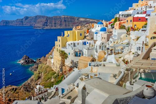 Obraz Architektura na Santorini, Grecja, Europa - fototapety do salonu
