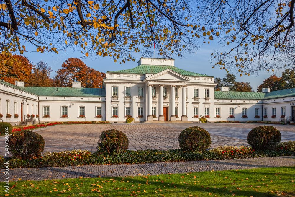 Fototapety, obrazy: Belweder w Warszawie