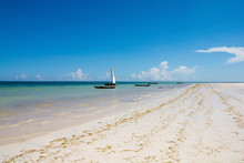 Sailboat At The Diani Beach In...