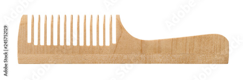 Leinwand Poster Single wooden comb