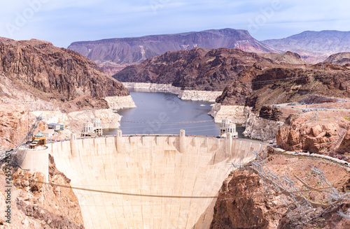 Photo sur Toile Barrage Hoover dam USA