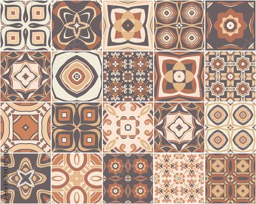 Wzór mozaiki. płytki azulejos. Wektor.