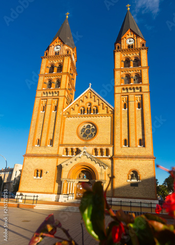 Foto  Cathedral in Nyiregyhaza is religion landmark of Hungary