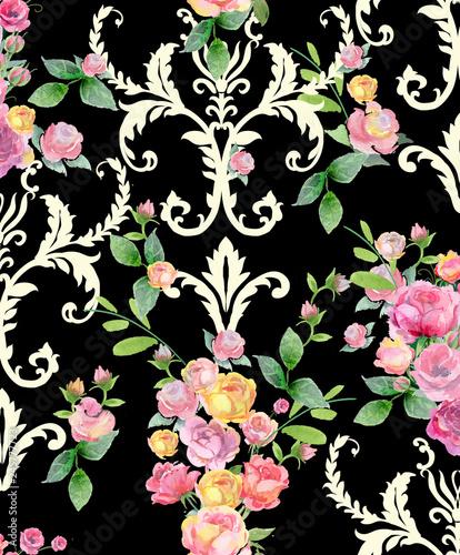 Fototapeten Künstlich flowers pattern