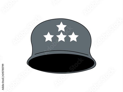 vector icon of an army helmet - Buy this stock vector and
