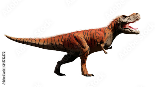 Cuadros en Lienzo Tyrannosaurus rex, T-rex dinosaur from the Jurassic period (3d dino rendering is