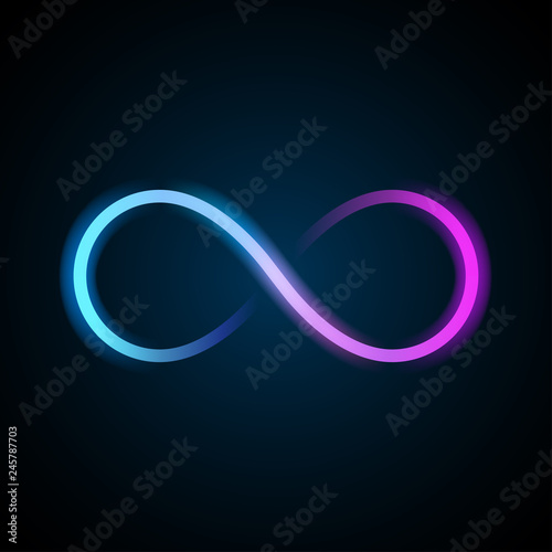 Fotografia Neon infinity symbol