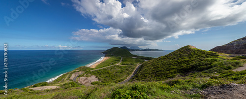 Breathtaking views from Timothy Hill in St. Kitts Wallpaper Mural