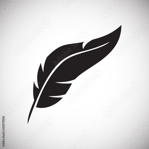 Photo Feather icons set on white background for graphic and web design, Modern simple vector sign