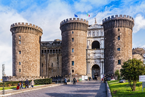 Canvas Prints Napels Castel Nuovo, Neapel