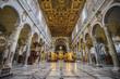 Rome, Italy - JANUARY 24, 2019: Interior of Basilica di Santa Maria in Ara coeli
