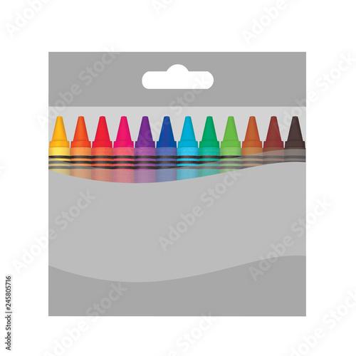 Fotografia Color wax box mockup.