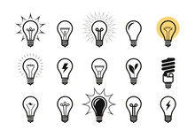Lightbulb Icon Set. Light Bulb...