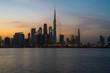 Dubai skyline view 2019, united arabic emirates