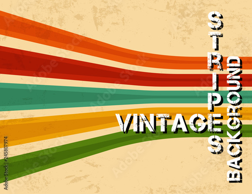 Photographie  Grunge vintage background with colorful stripes