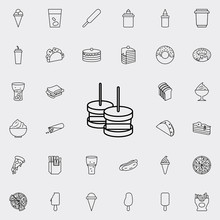 Snack Icon. Fast Food Icons Universal Set For Web And Mobile
