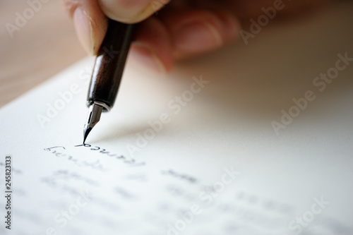 Foto Writing letter to a friend.