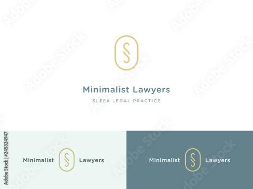 Fotografie, Obraz  Minimalist legal practice logo