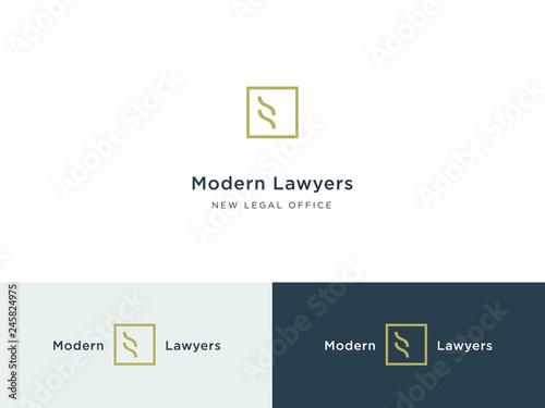 Modern legal office logo Wallpaper Mural