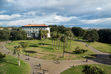 View Of Capodimonte Royal Palace Park In Naples, Italy