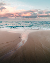 Sunset On The North Shore Of Oahu.