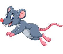 Cartoon Cute Mouse Jumping