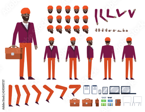 Indian businessman with turban creation kit Canvas-taulu