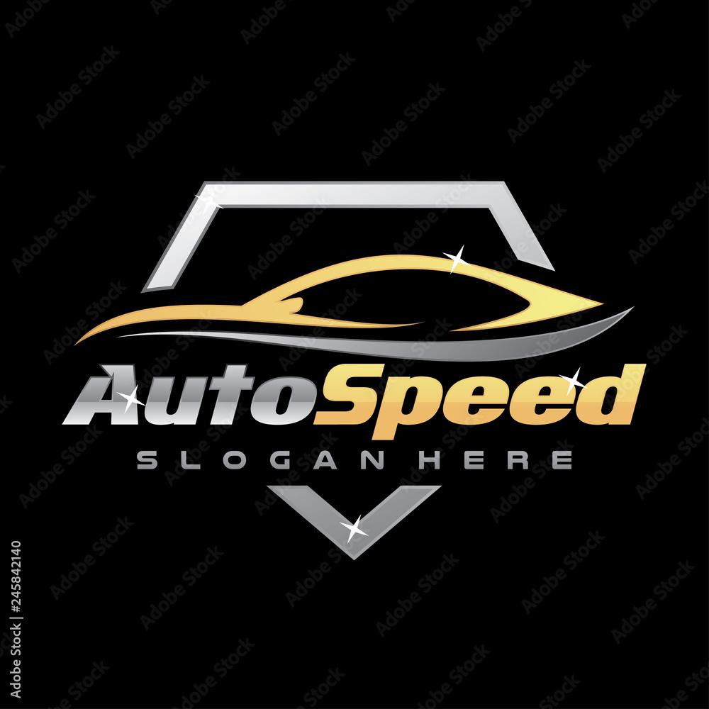 Fototapety, obrazy: Car Detailing Logo Inspiration  Vector