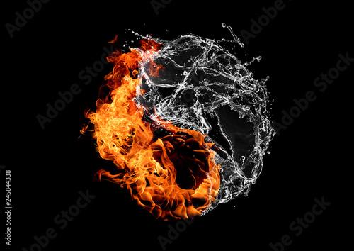 火と水の太極図