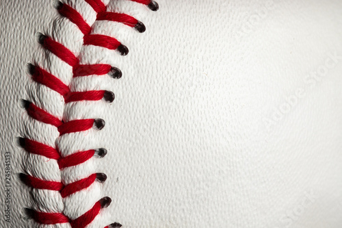 red stitches on a baseball Wallpaper Mural