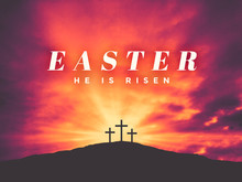Easter He Is Risen Text With T...