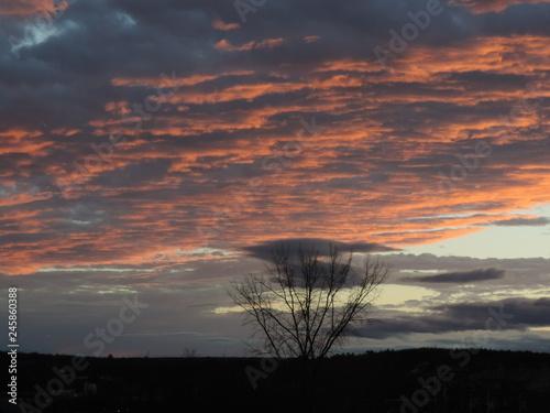 Fototapety, obrazy: coucher de soleil quebecois