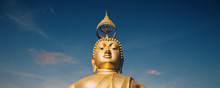Wat Tham Seua Or Tiger Cave Temple Mountain Top Golden Buddha Statue