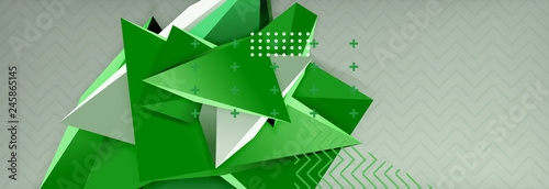 Fotografie, Obraz  3d triangular vector minimal abstract background design