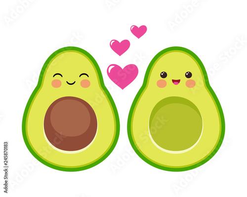 Photo  Cute avocado couple