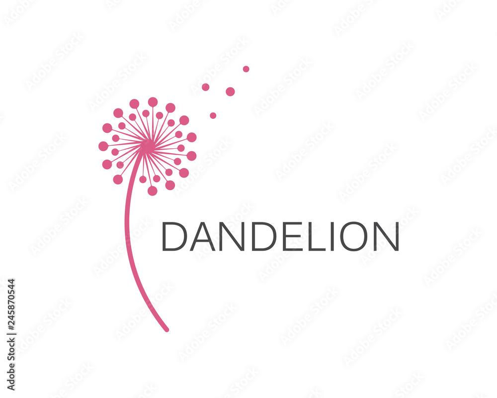 Fototapety, obrazy: Illustration of concept dandelion. Vector logo
