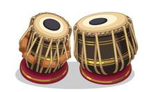 Indian Musical Instrument Tabla Vector Illustration