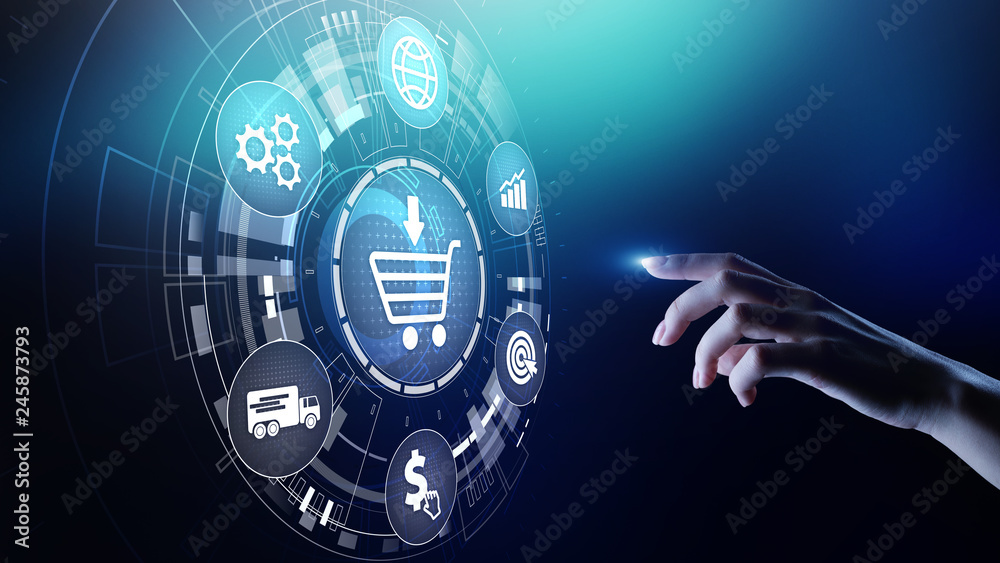 Fototapeta E-Commerce, Online chopping Internet business concept on virtual screen.