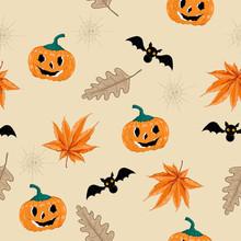 Halloween Seamless Pattern Ve...