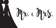 Mr And Mrs - Hand Lettering. W...