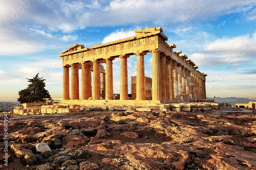 Printed kitchen splashbacks Athens Parthenon on Acropolis, Athens, Greece. It is a main tourist attraction of Athens.