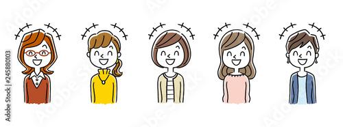 Obraz na płótnie 複数の女性:笑う