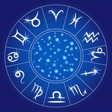 Zodiac Signs. Zodiacal Circle....